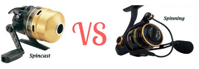 spincast vs spinning reel