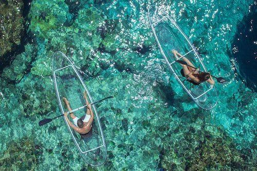 crystal kayak paddling